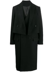 D.Gnak Double Breasted Coat Black