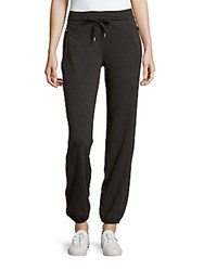 Andrew Marc New York Solid Cotton Blend Pants Charcoal