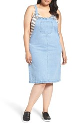 Glamorous Plus Size Women's Denim Overall Dress