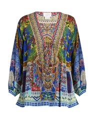 Camilla Bohemian Bounty Silk Top Blue Multi