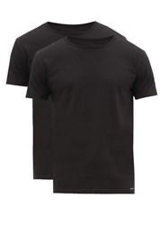 Paul Smith Pack Of Two Cotton Jersey Pyjama Tops Black