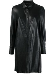 Federica Tosi Button Up Shirt Dress Black