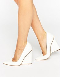 Asos Pulse Pointed Wedges White