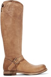 Brunello Cucinelli Leather Knee Boots Light Brown