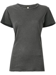 R 13 R13 Short Sleeve T Shirt Women Micromodal Supima Cotton S Black