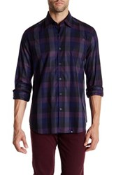 Stone Rose Regular Fit Checkered Long Sleeve Shirt Purple