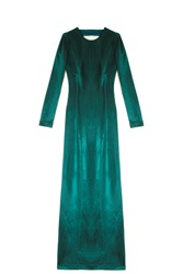 Galvan Backless Gown Green