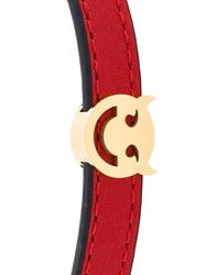 Ruifier Charm Bracelet Leather Gold Red