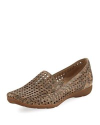 Sesto Meucci Gauri Perforated Casual Loafer Taupe
