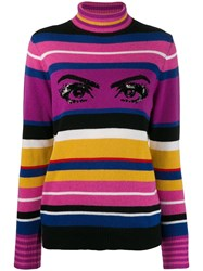 Pinko Sequin Eye Sweater Pink