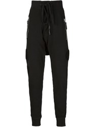 11 By Boris Bidjan Saberi Ribbed Drawstring Track Trousers Black