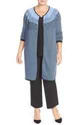 Plus Size Women's Nic Zoe 'Blue Ombre' Long Cardigan