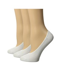 Hue Cotton Socks Liner 3 Pack White Women's Crew Cut Socks Shoes