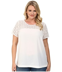 Mynt 1792 Plus Size Short Sleeve Boat Neck Top Bright White Women's T Shirt