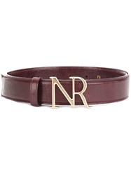 Nina Ricci Monogram Buckle Belt Pink And Purple