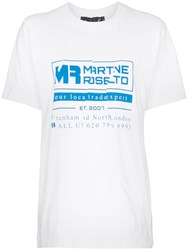 Martine Rose Logo Print T Shirt White