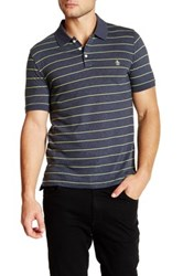 Original Penguin Neon Stripe Polo Blue