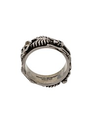 Alexander Mcqueen Dancing Skeleton Ring Silver