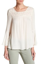 Jessica Simpson Wilma Bell Sleeve Blouse White