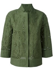 Ermanno Scervino Cut Out Lightweight Jacket Green