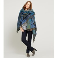 East Woodland Blanket Wrap Blue