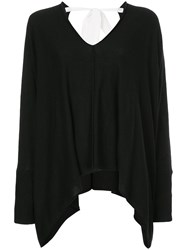 Taylor Asymmetric V Neck Jumper Black