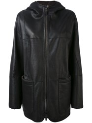 Iris Von Arnim Oversized Coat Women Nappa Leather S Black