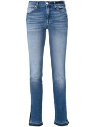 7 For All Mankind Faded Jeans Women Cotton Spandex Elastane 26 Blue