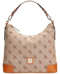 Dooney And Bourke Americana Signature Erica Hobo Natural