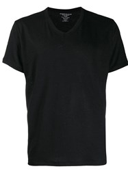 Majestic Filatures V Neck T Shirt Black