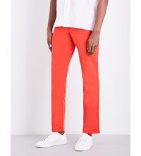 Paul Smith Slim Fit Cotton Chinos Red