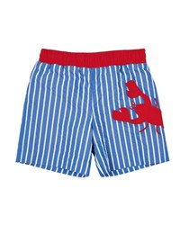 Florence Eiseman Striped Lobster Swim Trunks Blue