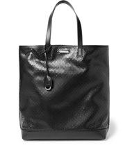 Saint Laurent Perforated Leather Tote Bag Black