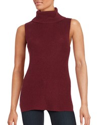 French Connection Knit Turtleneck Tunic Zinfandel