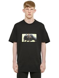 Givenchy Cuban Fit Dogs Printed Cotton T Shirt