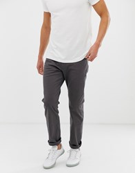 Esprit Casual 5 Pocket Straight Fit Twill Trouser In Dark Grey