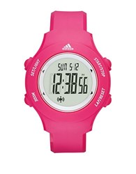 Adidas Digital Pink Polyurethane Strap Watch