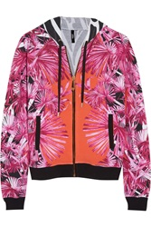 Versus Printed Stretch Cotton Hooded Top
