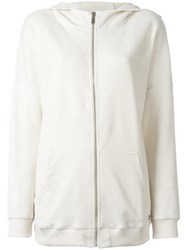 Twin Set Zipped Hoodie White