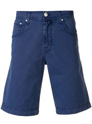 Jacob Cohen Knee Length Fitted Shorts Blue