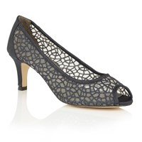 Lotus Weronika Peep Toe Courts Navy