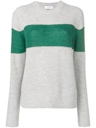 Calvin Klein Colour Block Fitted Sweater Grey