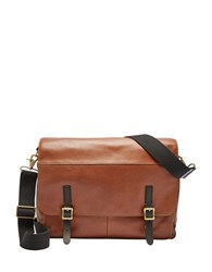 Fossil Defender Messenger Bag Cognac