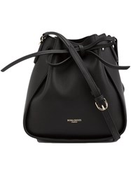 Nina Ricci String Tie Bucket Cross Body Bag Black