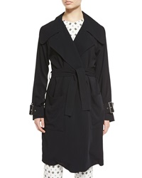 A.L.C. Engels Belted Trench Coat Black