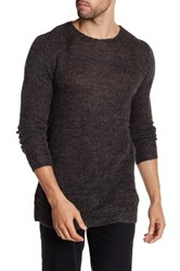 Lindbergh Long Sleeve Knit Sweater Gray