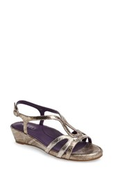 Vaneli Women's Daffy Sandal Metallic Silver