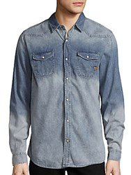Buffalo David Bitton Shervin Long Sleeve Denim Shirt Bleach Blue