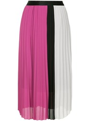 Guild Prime Panelled Pleated Skirt Pink And Purple