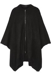 The Row Asham Oversized Cashmere Poncho Black